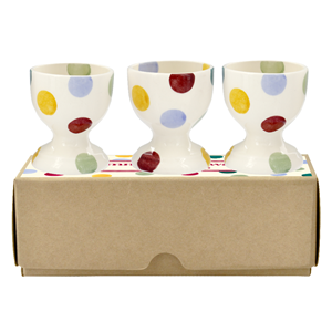 Eggcup set of 3 Polka Dots