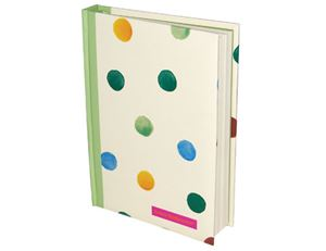 A6 Casebound Notebook Polka Dots