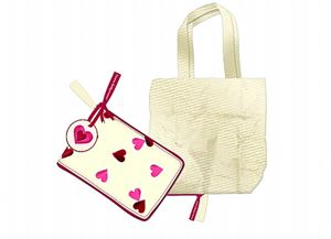 Fold Away Shopper Pink Hearts